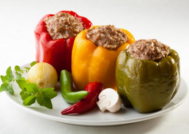 Spicy Pork-Stuffed Peppers