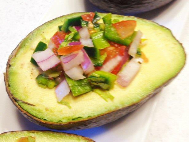 Avocado Stuffed with Spicy Salsa