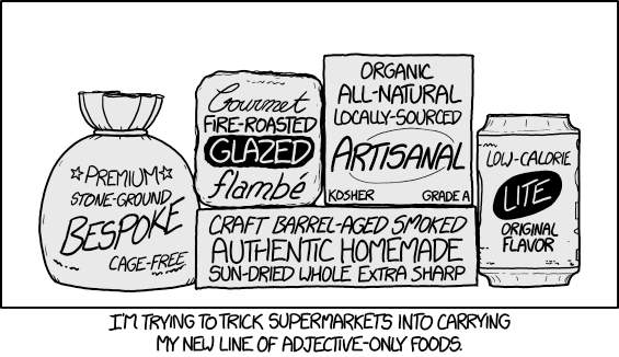 xkcd 1774: Adjective Foods